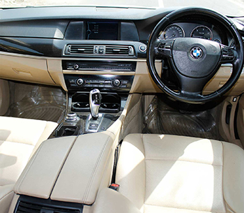 BMW 5 series front interior