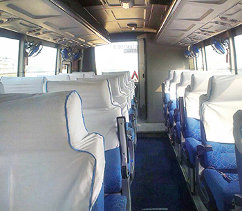 Tata Mini Coach interior view