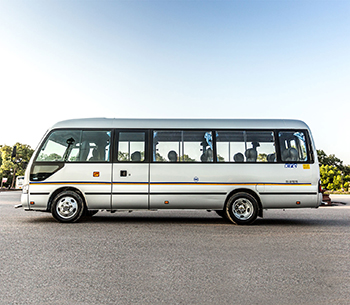 Toyota Coaster side view