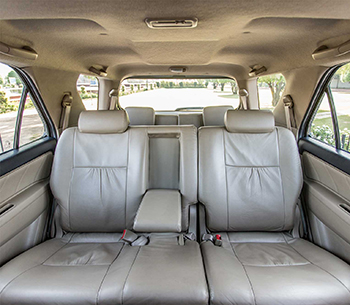 Toyota Fortuner rear interior